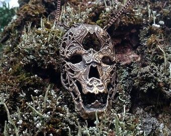Death Mask - Bronze Necklace