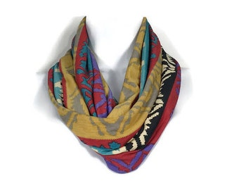 FREE SHIPPING Southwestern Infinity Scarves Western Scarves Aztec Print Scarves Navajo Infinity Scarves Red Black Mustard Fashion Scarves