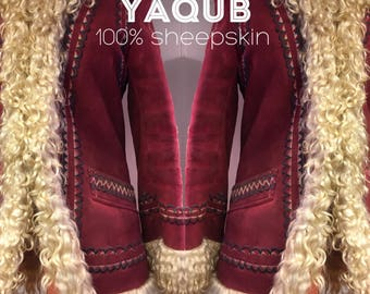 1970s  Embroidered Shearling Coat made in Turkey/Almost Famous/Penny Lane/Boho