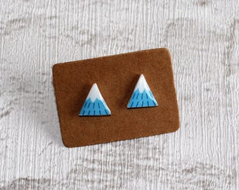 Snow-capped Mountain Earrings, Teeny Tiny Earrings, Nature Jewelry, Cute Earrings