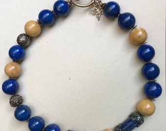 Statement necklace, Gemstone jewelry, Beaded necklace, Dramatic jewelry