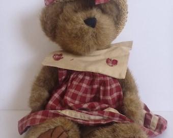 Boyds Bear Prudence bearimore. plush bear. stuffed teddy bear. stuffed animal. stuffed toy. teddy bear.