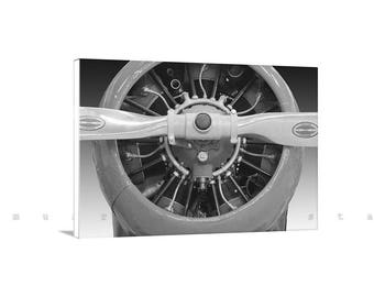 Gift for Pilots, Airplane Wall Art, Aviation Decor, Aircraft Art, Aeronautical Art, Canvas Photo, Propeller Airplane, Biplane, Photo Print