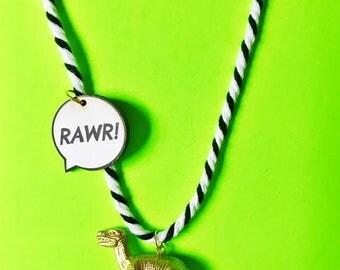 Dinosaur Necklace. Kids Jewelry. Kids Necklace. Boys Jewelry. Dino Necklace. Girls Necklace. Kid gift. Boys Necklace. T-Rex Necklace.