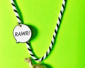 Dinosaur Necklace. Kids Jewelry. Kid Gift. Kids Necklace. T-Rex. Girls Necklace. Dino Lover. Boy Gift. Dino Necklace. Dinosaur gift. T Rex.
