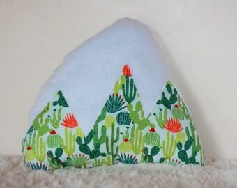 Cactus  Mountain Pillow Nursery Decor Baby Unisex Kids Room accent Pillow Arizona Southwestern Snowy Mountain