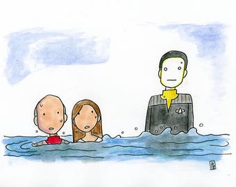 In the event of a water landing - illustration inspired by Star Trek Insurrection