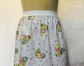 """Adorable Classic Winnie the Pooh Ladies Skirt from upcycled fabric - - 28"""" - 34"""" waist"""