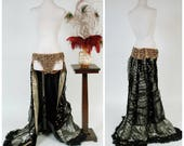 RESERVED on LAYAWAY Vintage 1960s Burlesque Costume - RARE Mme. Berthé Burlesque Peeler Skirt with Sequins and Beads, Eyelash Lamé & Chiffon