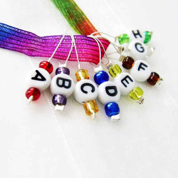 The ABC's of Knitting - Eight Snag Free Stitch Markers - Fits Up to 5.5 mm (9 US) - Open Edition