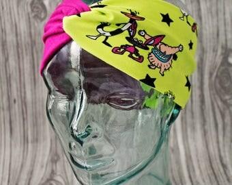 Aaahh! Real Monsters Headband 90s kids Geeky nerdy nostalgia Oblina Krumm Ickis Cool fun Ah fandom nickelodeon nick cartoons adult turban