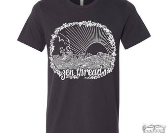 Men's Zen Threads BEACH t shirt s m l xl xxl (+ Color Options)