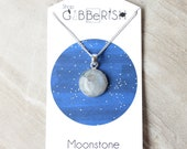 Moonstone Pendant Necklace//Rainbow Moonstone//Science Gift Idea//Space Rock Collection