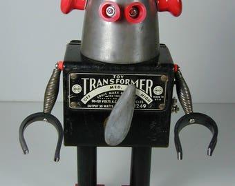TRANSFORMER Found Object Robot Sculpture  Assemblage