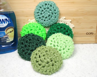 Green Nylon Net Scrubbies