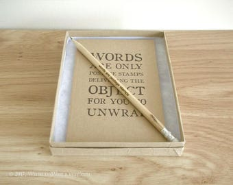 Postal Quote Gift Set - with notebook, gift box, pencil & optional gift bag