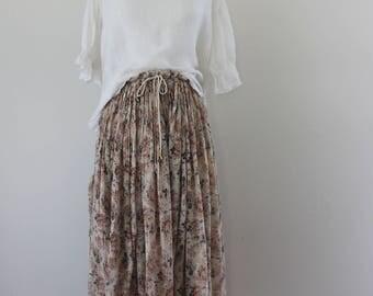 1990s Indian Cotton Gauzy Skirt