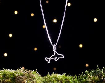 Sterling Silver Orca Whale - Small, Double Sided - (Charm, Necklace or Earrings)