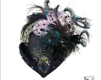 Deluxe Dark Mermaid Riding Hat - SIZE FULL