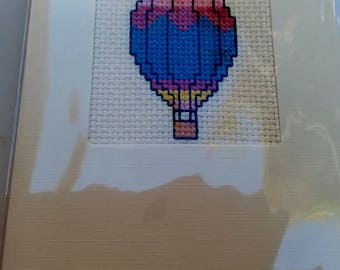 Balloon cross-stitched card