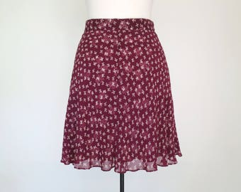 FALLING FLOWERS // 90s floral skirt with sheer layers