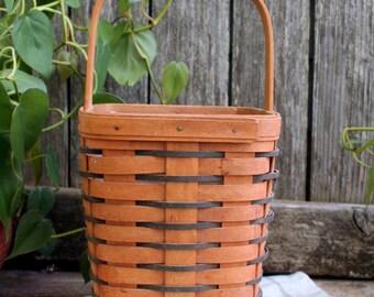 FREE SHIPPING / Vintage Longaberger Basket / 1993 Longaberger Basket / Split Oak Basket / Hand Woven Basket