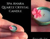 Spa Anara - Quartz Crystal Candle - Artisan Handmade Miniature in 12th scale After Dark miniatures.