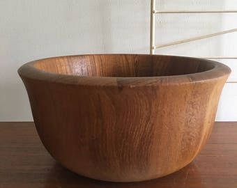 Vintage Dansk IHQ Teak Wood Bowl Wooden Serving Quistgaard Salad Denmark SALE