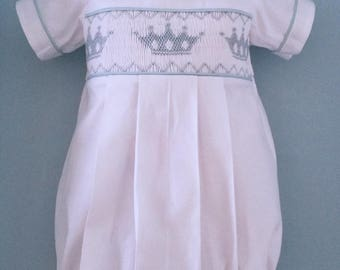 Made to Order Hand smocked Prince Bubble