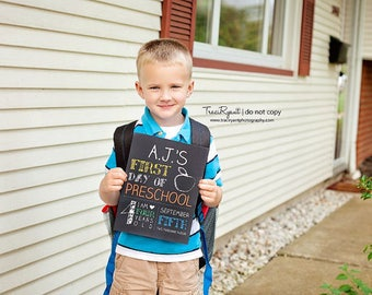 Basic First Day of School Sign