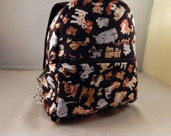 Mini backpack Dog Pets Paw Charm Graduation Teen Teacher Gift Mini Back pack Makeup Bag Cosmetic Travel Bag Organizer Bag Cute