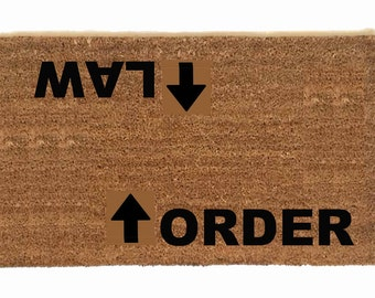 custom for law and order legal lawyer bar funny outdoor door mat doormat