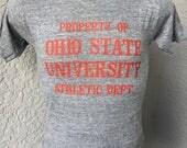 Property of Ohio State University 1980s vintage soft triblend t-shirt - grey size medium Buckeye
