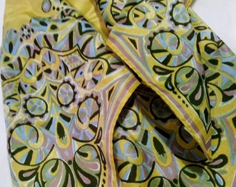 Vintage Vera Neumann Mod Paisley Design Silk Scarf