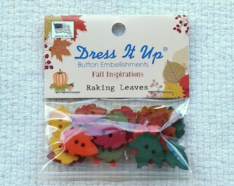 Leaf Shaped Button Embellishments by Dress It Up - Pack of 25                                                          09/17