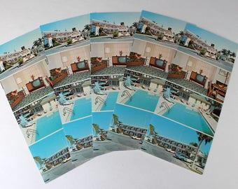 Vintage Unused Mid Century Florida Motel Postcards Anchor Inn Motel Fort Myers FL Florida 60s 70s
