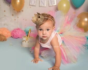 Unicorn Tutu Dress   Rainbow Unicorn Birthday Tutu   Pink Baby Tutu Skirt   Pink Unicorn   Gold Unicorn 1st Birthday Tutu