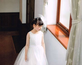 Girls Formal Dress Pattern, Japanese Sewing Book for Japanese Style Girl Clothing, Easy Sewing Tutorial, Dresses for Princess Party, B1866