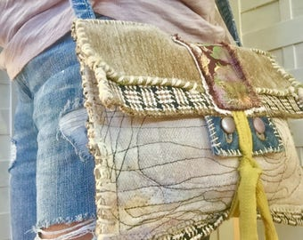 Handmade Artsy Crossbody Bag