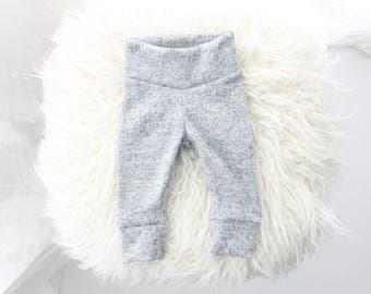 Cozy Grey New Baby Leggings | elastic free leggings | grey baby outfit | newborn baby | unisex baby | cozy baby