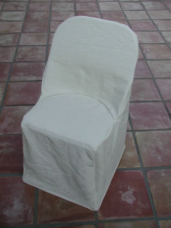 Fitted Slipcover Folding Chair Cover Beige Slipcover White