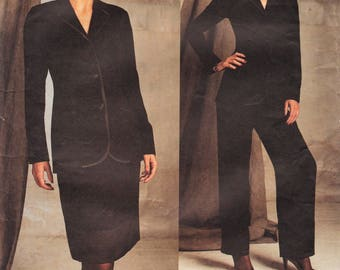Vogue 2602  // Designer Sewing Pattern By Bill Blass // Pants Skirt Jacket Suit / Sizes 18 20 22