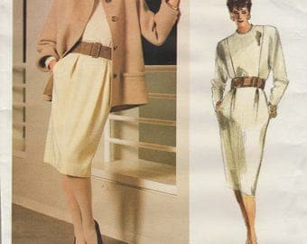 Vogue 1771 / Vintage Designer Sewing Pattern By Geoffrey Beene / Dress Jacket / Size 12 Bust 34