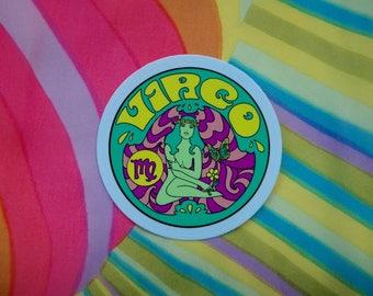 Virgo Sticker... 3 Inch Thick Vinyl Sticker... Zodiac Sticker
