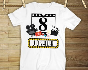 Movie Theater Birthday Shirt or Bodysuit - Personalized with ANY name and age!
