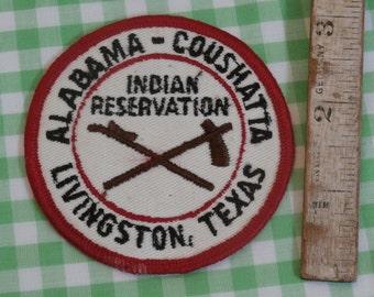 Alabama-Coushatta Indian Reservation Souvenir Patch - Livingston, Texas