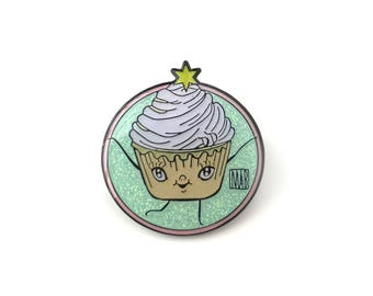 The Dumbest Cupcake Ever - Limited Edition enamel glitter pin by Mab Graves