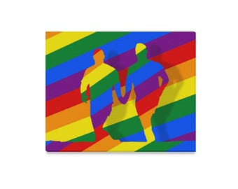 Love is Love! Wall Art | Canvas or Poster | Bright Rainbow Print | LGBTIQ Pride | Portrait Landscape | Free Laminating | Show Your Support!
