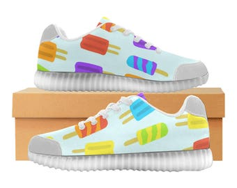 Popsicles LED Light Up Shoes | Boys Girls Womens Sizes | High Stretch Upper | EVA + Mesh Fabric Insole | 7 Colors | Bold Design | Fashion