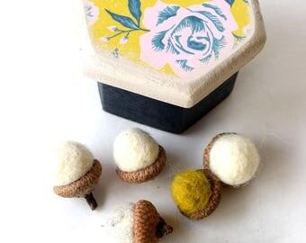 Rose Park Wood Box, Hexagon Box, Organize, Wooden Boxes, Keepsake, Jewelry Box, Gift Box, Decor, Handmade, Flora, Carousal Collection